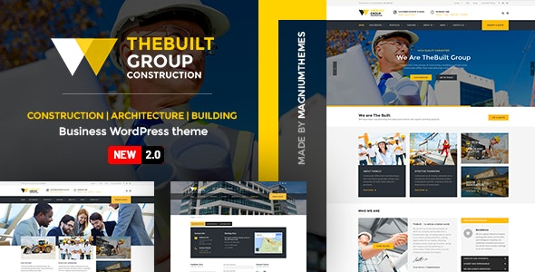 TheBuilt - Construction and Architecture WordPress theme - Business Corporate