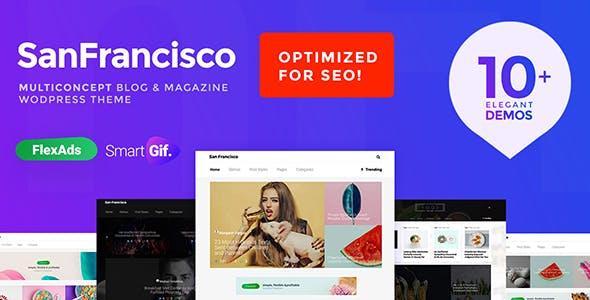 SanFrancisco - MultiConcept Blog & Magazine WordPress Theme