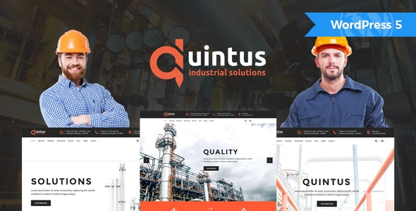 Quintus - Industrial & Engineering WordPress Theme - Business Corporate