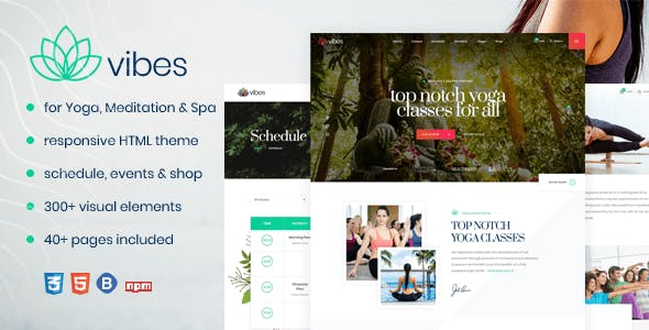 Vibes - HTML Responsive Yoga & Spa Template - Health & Beauty Retail