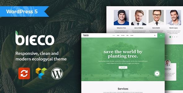 Bieco - Environment & Ecology WordPress Theme - Business Corporate