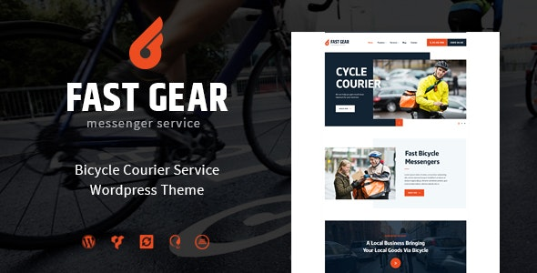 Fast Gear | Courier and Delivery Services WordPress Theme - Retail WordPress