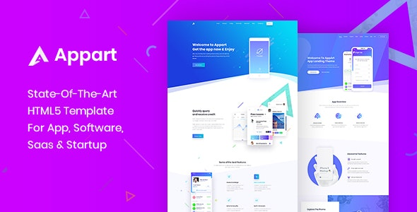 Appart - Creative HTML5 Template for App & Saas - Technology Site Templates