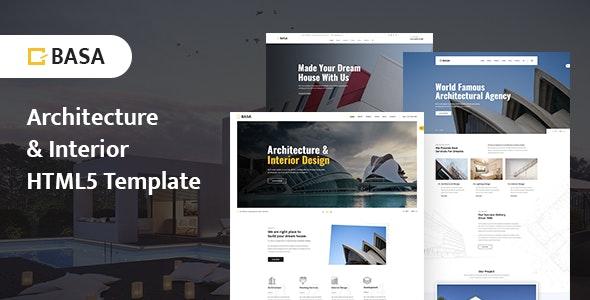 BASA - Architecture & Interior HTML5 Template - Portfolio Creative