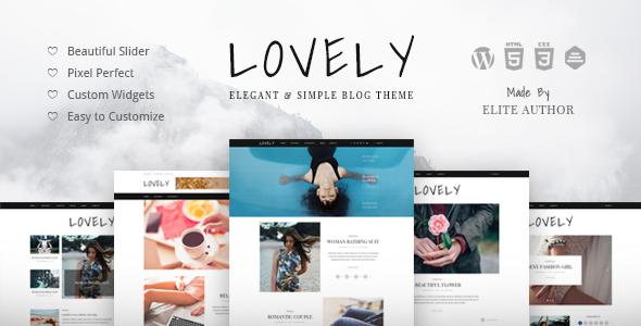 Lovely - Elegant & Simple Blog Theme - Blog / Magazine WordPress