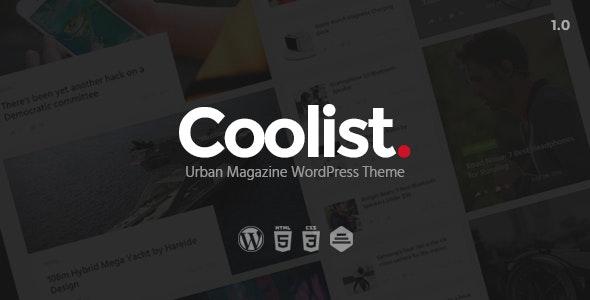 Coolist | Infinite Scroll Magazine WordPress Theme - News / Editorial Blog / Magazine