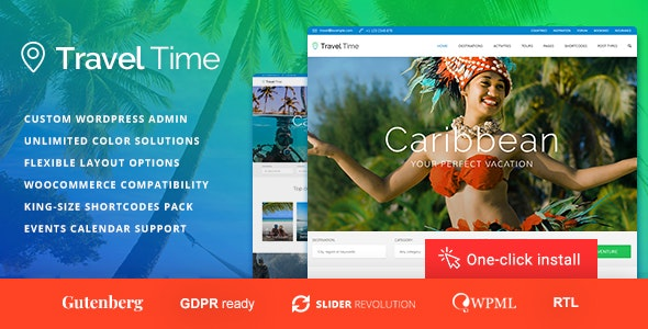 Travel Time - Tour and Hotel WordPress Theme - Travel Retail
