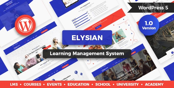 Elysian - WordPress School Theme + LMS - Education WordPress
