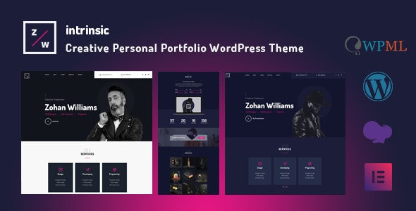 Intrinsic - Creative Personal Portfolio WordPress Themes - Portfolio Creative