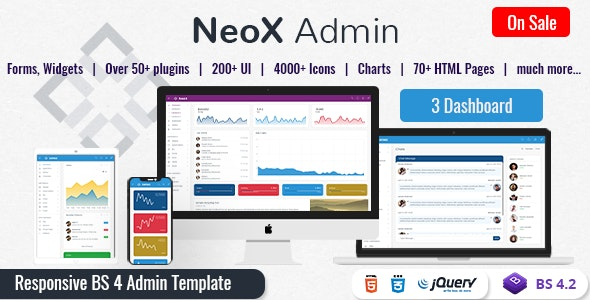NeoX - Responsive Admin Dashboard Template Web Apps - Admin Templates Site Templates