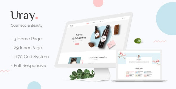 Uray - Cosmetic & Beauty Shop PSD Template - Shopping Retail