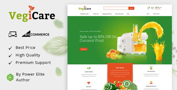 VegiCare - Multipurpose Stencil BigCommerce Theme - BigCommerce eCommerce