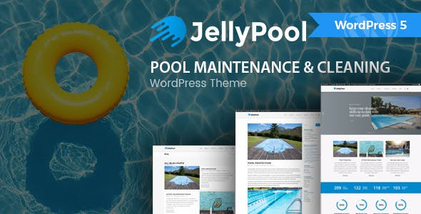 Jellypool Pool Maintenance Cleaning WordPress Theme Business Corporate