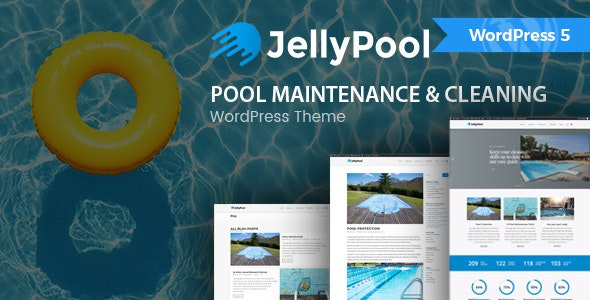 JellyPool - Pool Maintenance & Cleaning WordPress Theme - Business Corporate