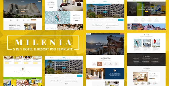 Milenia - Hotel & Resort PSD Template - Travel Retail