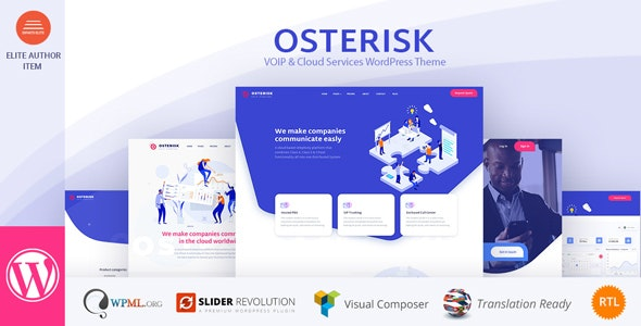 Osterisk: VOIP & Cloud Services WordPress Theme - Business Corporate