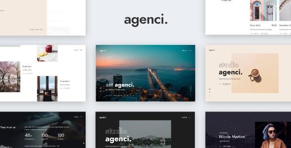 Agenci - Modern Creative Portfolio Website Template - Portfolio Creative