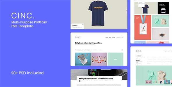 Cinc - Multi-Purpose Portfolio PSD Template - Portfolio Creative