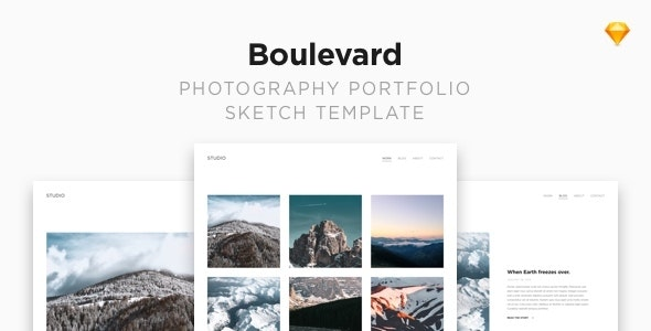 Boulevard — Photography Portfolio Sketch Template - Sketch Templates