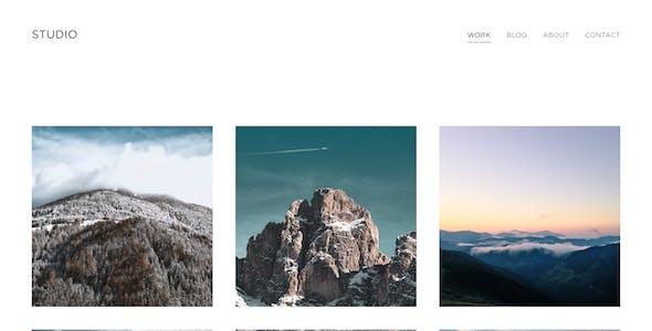 Boulevard — Photography Portfolio Sketch Template