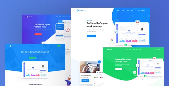 PatLan - Agency, Startup and SaaS Landing PSD Template - Software Technology