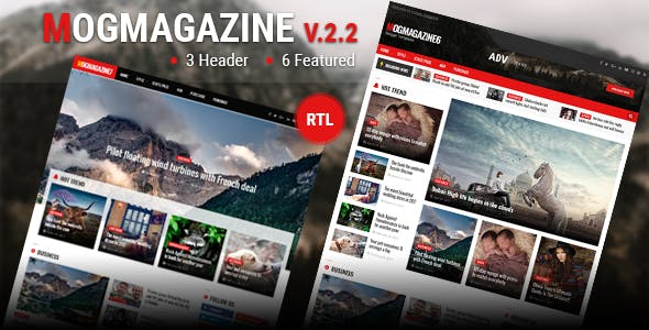 Download Mogtemplates - MogMagazine Template For Blogger V.2.2