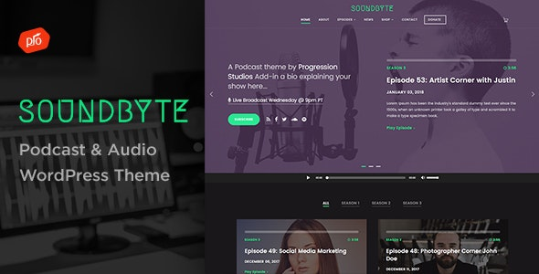 Soundbyte – Podcast/Audio WordPress Theme