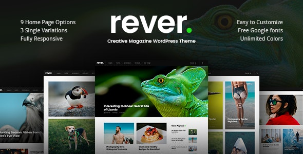 Rever - Clean and Simple WordPress Theme - News / Editorial Blog / Magazine