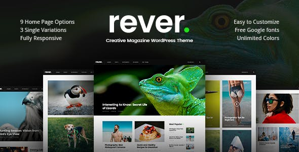 Rever - Clean and Simple WordPress Theme