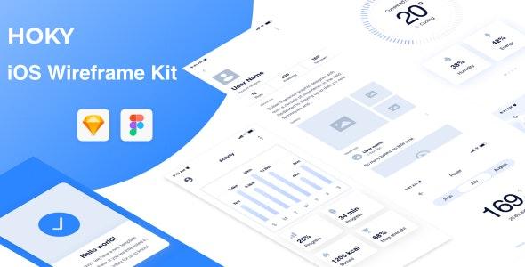Hoky Mobile Wireframe Kit - Sketch Templates