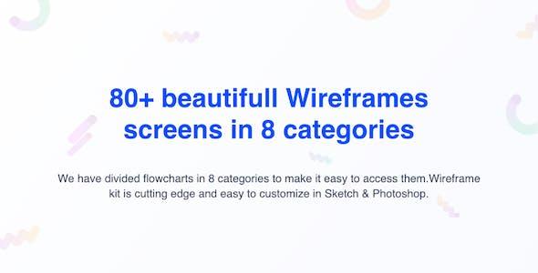 Hoky Mobile Wireframe Kit