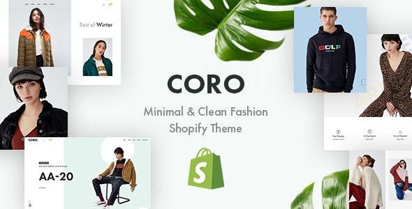 CORO – Minimal & Clean Fashion Shopify Theme - Shopify eCommerce