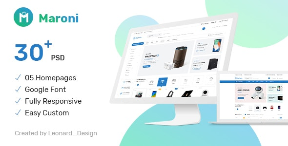 Maroni | Multipurpose Electronics eCommerce PSD Template - Electronics Technology