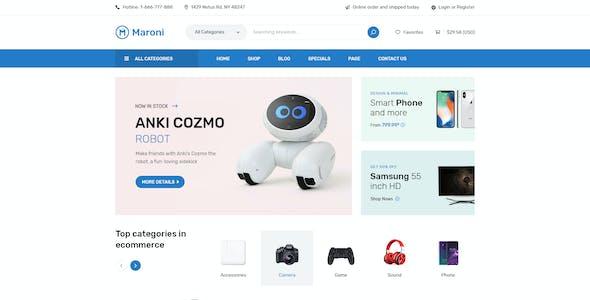 Maroni | Multipurpose Electronics eCommerce PSD Template