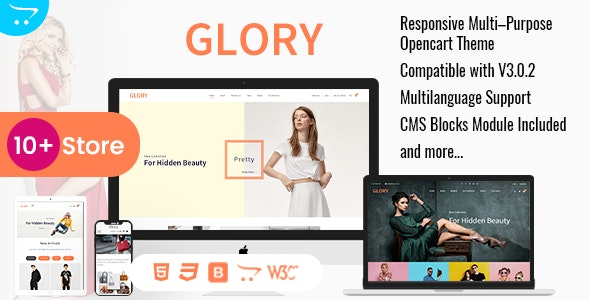 Glory - Opencart 3 Multi-Purpose Responsive Theme - Fashion OpenCart