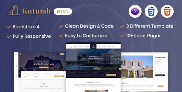 Kutumb - Responsive Real Estate HTML Template - Site Templates