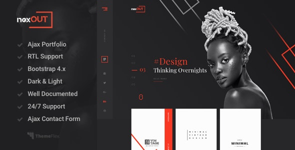 Nexout - Creative Ajax Portfolio Template - Portfolio Creative
