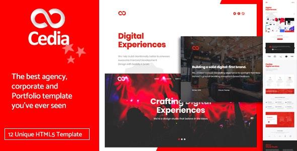 Cedia - Creative Agency, Corporate and Portfolio Multi-purpose Template - Corporate Site Templates