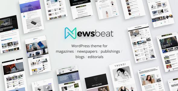Newsbeat - Optimized WordPress Magazine theme - News / Editorial Blog / Magazine