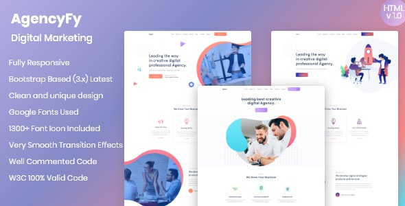Agencyfy - Creative Agency and Digital Marketing HTML Template - Creative Site Templates