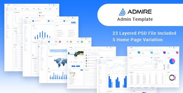 Admire Admin PSD Template - Photoshop UI Templates
