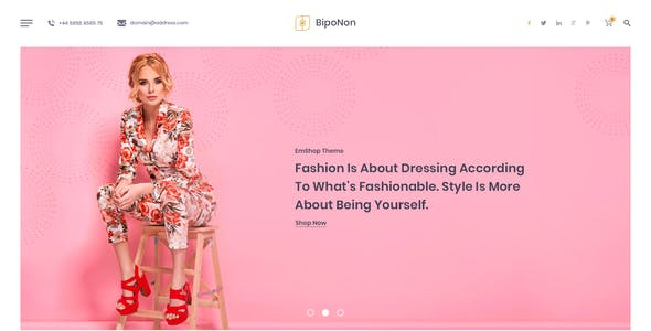 Biponon - PSD Template For Online Shops