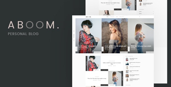 Aboom - Personal Blog WordPress Theme - Personal Blog / Magazine