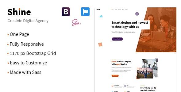 Shine | Creative HTML5 Template for Agencies - Creative Site Templates