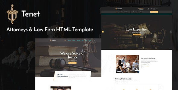 Tenet - Lawyer and Law Firm HTML Template - Business Corporate