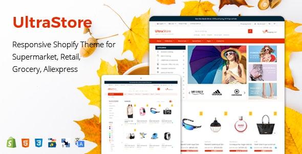 UltraStore - Responsive Shopify Theme for Supermarket & Retail store - Shopping Shopify