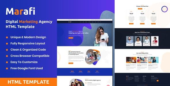 Marafi Digital Marketing Agency Html Template By