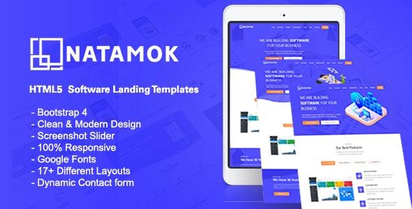 Natamok - Software Landing Template - Technology Site Templates