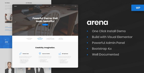 Arena - Business & Agency WordPress Theme - Business Corporate