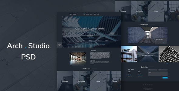 Arch Studio-One Page Architecture PSD Template - Business Corporate